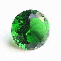Green Quartz Crystal Glass Diamond 100mm Paperweight Glass Craft Gift Party Souvenir Gifts Home Decor Birthday Wedding Supplies