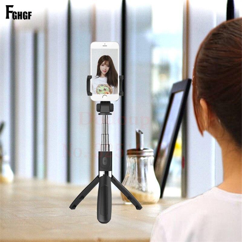 Wireless Bluetooth Selfie Stick Universal 3 in 1 Mobile Phone Tripod Bracket For iPhone Mini Extendable Shutter Selfie Stick