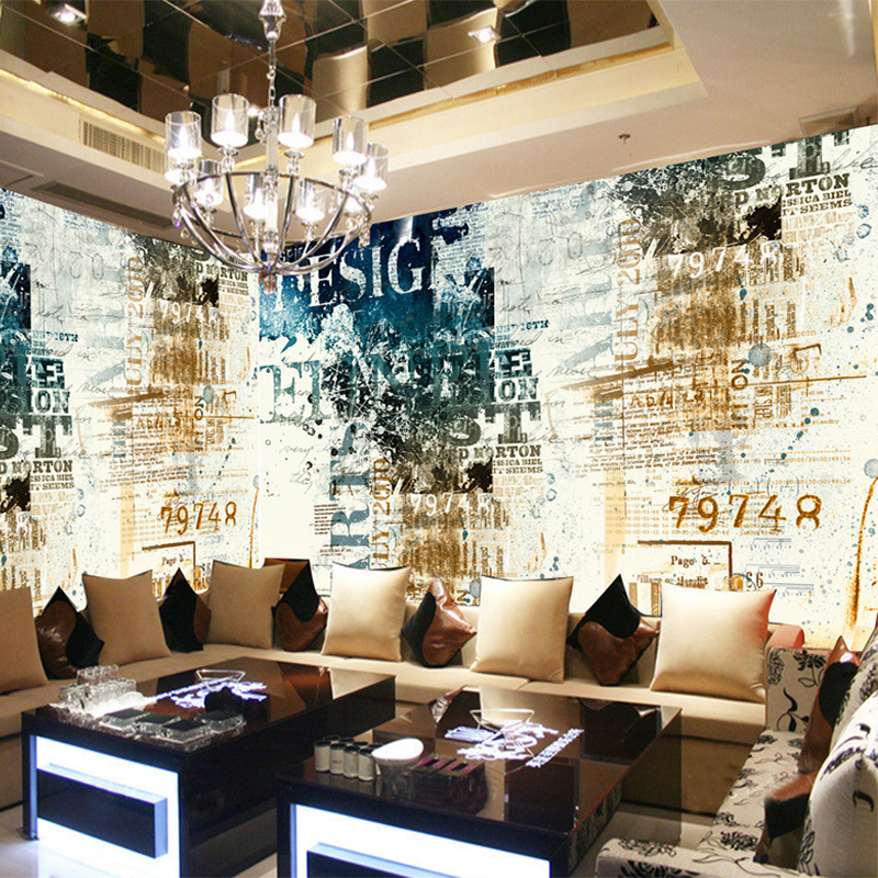 Modern Abstract Art Style 3D Wallpaper Personality Graffiti Photo Mural Restaurant KTV Bar Cafe Decor Wallpaper Papel De Parede