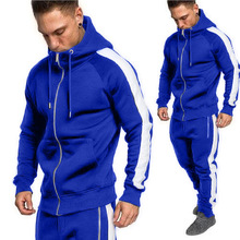 Zogaa Men Sportswear Pants Set Spring Track Suit Clothes Casual Tracksuit Male Fitness Stand Collar Sweatshirts Jacket+Pants Set