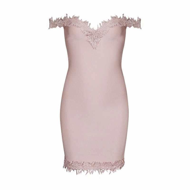 Новинка женское сексуальное черное Розовое Кружевное Белое Облегающее Бандажное платье 2016 трикотажное эластичное дизайнерское платье
