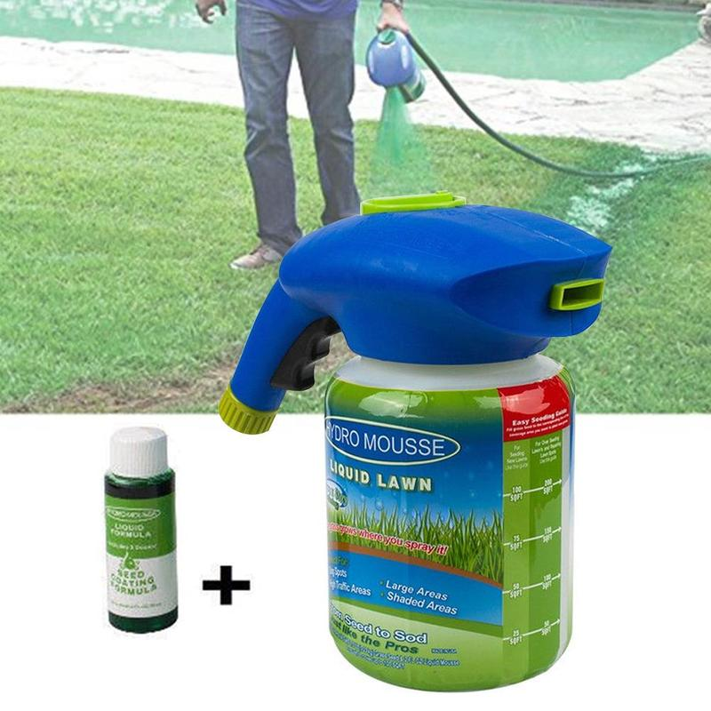 Household Seeding System Liquid Spray Seed Lawn Care Grass Shot NEW