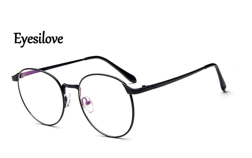 Eyesilove metal Finished myopia glasses Nearsighted Glasses prescription glasses for men women eyewear diopter from -1.0 to -6.0