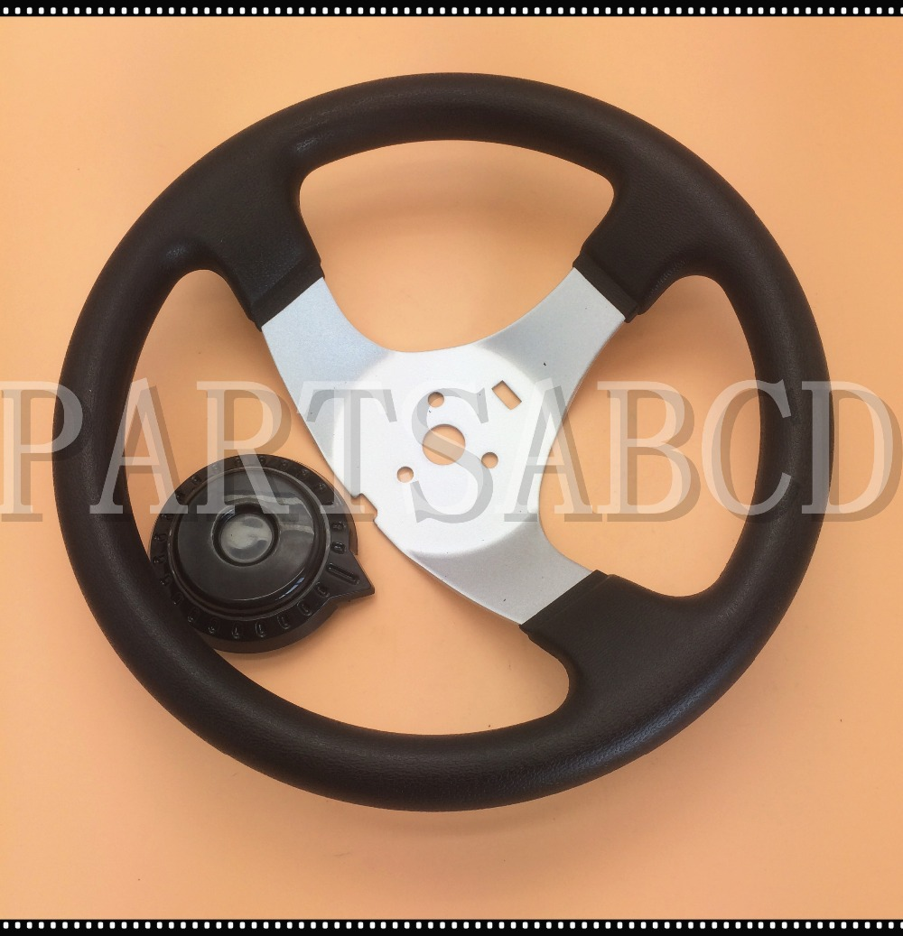 Go Kart Parts & Accessories Open-Minded 300mm 150cc 250cc Go Kart Buggy Quad Steering Wheel For Hammerhead Kandi Jcl Parts Can Be Repeatedly Remolded.