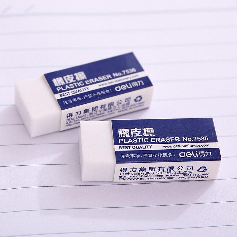 Deli 7536 eraser rubber eraser white small rubber