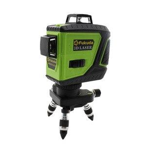 Image 4 - 2pcs Lion Battery Fukuda 12 Line 3D laser level 360 Vertical And Horizontal Laser Level Self leveling 515NM Sharp Laser Level