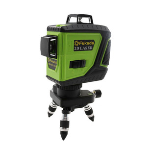 Image 4 - Nivel láser 3D de 12 líneas Fukuda, batería de León, 360, nivel Vertical y Horizontal, autonivelante, 515NM, nivel láser afilado, 2 uds.