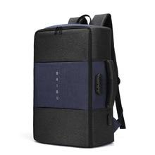 BAIBU תרמיל לגברים נגד גניבה רב תכליתי עמיד למים 17 אינץ USB מחשב נייד תרמיל נסיעות זכר תרמיל מטען חדש