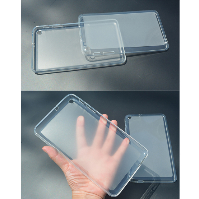 online retailer 6b785 7af9d US $5.0 |Fashion Transparent TPU Back Cover Case For Samsung Galaxy Tab 2  7.0 GT P3100 P3110 P3113 Soft Silicone Frosted Protective Case-in Tablets &  ...