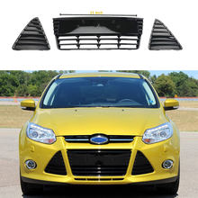 Bright Black Front Lower Left Right Bumper Grille Cover For Ford Focus MK3 MKIII Sedan Hatchback 2012-2014 BM51 17K945 AE/BE(China)