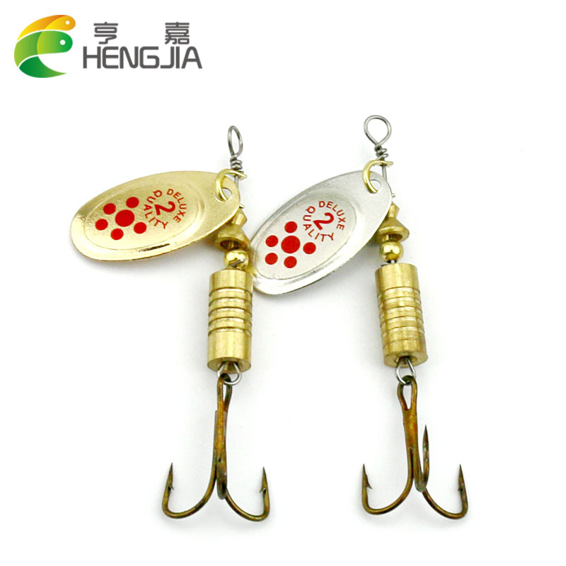Hengjia 10pcs hot spoon lure metal spinner fishing for Spinner fishing lures
