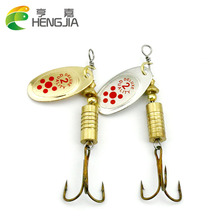 HENGJIA 10pcs 7.3g Hot Spoon Lure Metal Spinner Fishing Lures 2 colors Pesca Artificial Fishing Tackle Spinnerbait