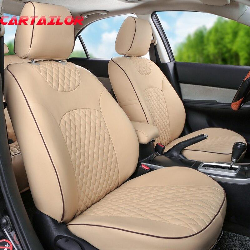 Cartailleur housses de siège personnalisé pour Chrysler PT Cruiser accessoires de voiture deluxe similicuir housse de siège de voiture set noir coussins de siège