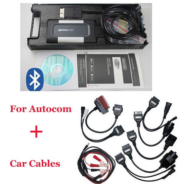 2017 Quality A FOR AUTOCOM CDP Pro for cars & trucks(Compact Diagnostic Partner) OKI CHIP with free shipping,full set car cables 2016 latest obdii scanner cdp pro plus for delphi ds150e autocom car diagnostic tools scanner with set 8 cables for car