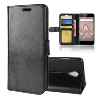 Luxury Leather Wallet Flip Cover For Wiko Tommy 2 Case Card Slots Kickstand Phone Case Protective