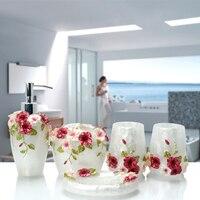 Multi models Optional Bathroom set resin bathroom set of five pieces bathroom toiletries kit bathroom accessories
