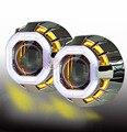 Универсальный стиль 35 Вт HID площади ангел глаза автомобиль ангел глаз Bi Xenon Объектив Проектора Фары с стайлинга автомобилей
