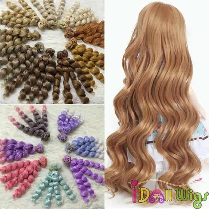 Hot Sale 1pcs 15cm100cm Jerry Curly Hair Extensions For Diy Bjdsd