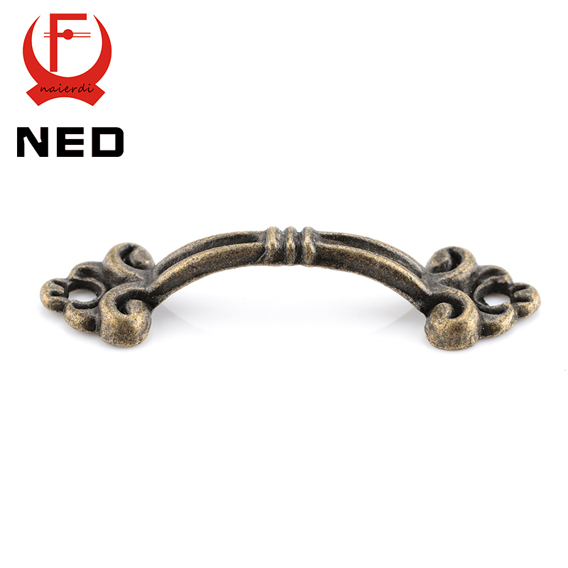 30pcs NED Handles Knobs Pendants Flowers For Drawer Wooden Jewelry Box Furniture Hardware Bronze Tone Handle Cabinet Pulls 50pcs ynizhur 30mm x 22mm bronze mini butterfly door hinges cabinet drawer jewellery box hinge with screw for furniture hardware