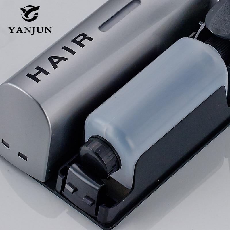 Image 2 - Yanjun Manual Hand Shower Shampoo Soap Dispenser Hand Sanitizer  Pump  350ml*2 Wall Mounted YJ2511 2shampoo soap dispensersoap  dispensershower shampoo