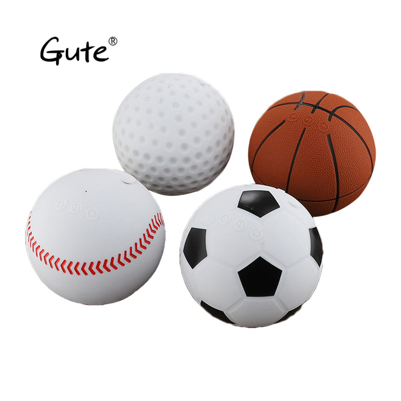 Haut-parleur bluetooth sans fil Gute cassa Style sportif Baseball basket-Ball football balle de Golf Design innovant altavoz mini BT