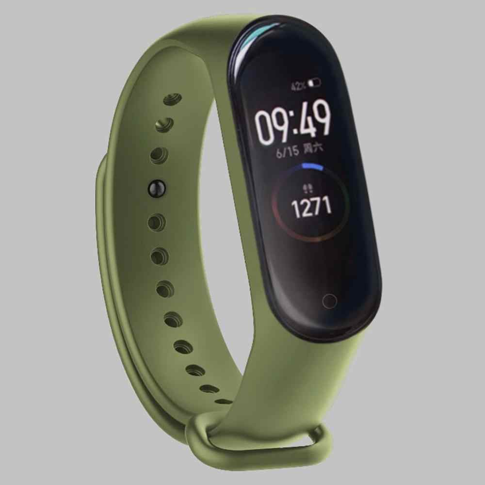 Fashion For Xiaomi Mi Band 3/4 Replacement Sport Silicone Strap Wristband Bracelet Two-Tone Replacement Strap