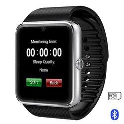 GT08 Bluetooth montre intelligente avec écran tactile grande batterie Support TF carte Sim caméra pour IOS Android téléphone Smartwatch PK A1 DZ09