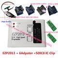 Nueva EZP2013 de alta velocidad USB Programmer + 6 unids SOP Adaptador + SOIC8 Clip de prueba Mejor que EZP2010 apoyo 32 M FlashClip WIN7 WIN8 VISTA