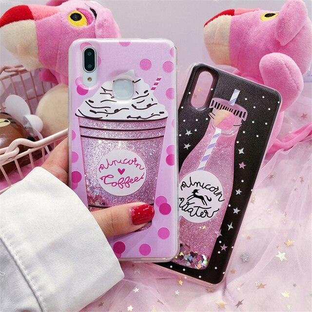 Ollivan Girls quicksand liquid glitter case for xiaomi redmi note 5 4x 4 x case silicone tpu cover for redmi note 6 Pro S2 funda
