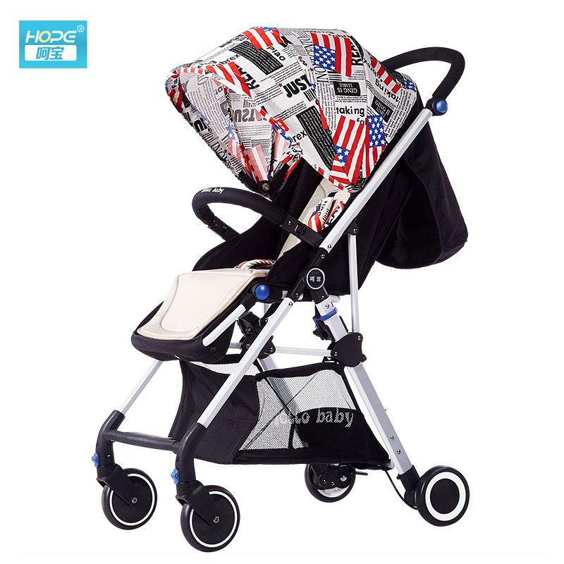 Four Wheels Baby Stroller Reversible Push Handle High Landscape Baby Pram Can Sit Lie Flat Infant Baby Shock Absorber PushchairFour Wheels Baby Stroller Reversible Push Handle High Landscape Baby Pram Can Sit Lie Flat Infant Baby Shock Absorber Pushchair