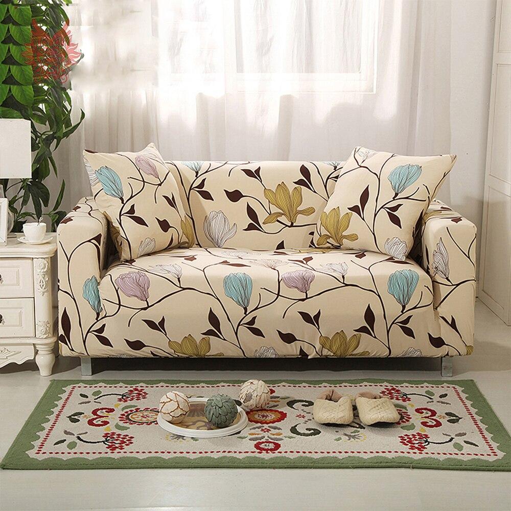 1 Seat 2 Zetels 3 4 Bloemenprint Stretch Stoelhoezen Hoes Universele Elastische Kracht Sofa Covers Sp3965 Gratis Schip In