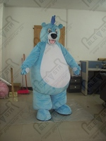 Жир синий медведь талисмана мультфильм качество меха медведя костюмы