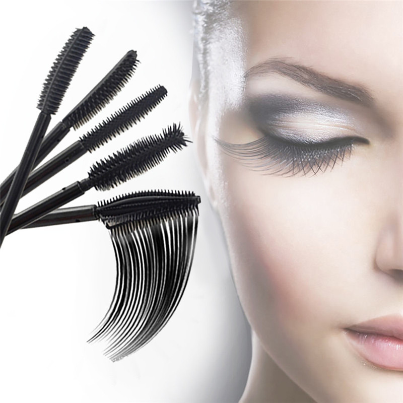 SHIDISHANGPIN 2018 1PC Eyelash Brushes Silicone Head Disposable Mascara Wands Eyelash Brushes Lash Extention 06.05