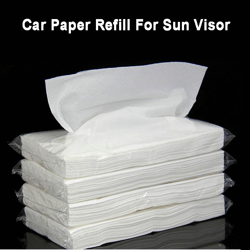 Car Extractable Paper Tissue Vehicle Hanging Sun Visor Paper Artificial Napkin Refill Car Tissue Box Interior Accessories