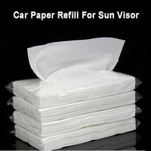 Car Extractable Paper Tissue Vehicle Hanging Sun Visor Paper Artificial Napkin Refill Car Tissue Box Interior Accessories