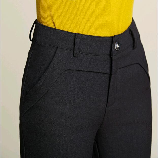 Automne Laine Casual Filles Mode Large Jambe La Vêtements Taille Femelle 2018 Plus Lâche Femmes Noir Pantalon BFTgdxqw1z