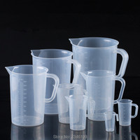1 PC 5000 ML נוזלי אבקת PP פלסטיק כוס קפה כוסות מדידה עם ידית מטבח בקנה מידה למעבדה לכימיה חנות משלוח חינם