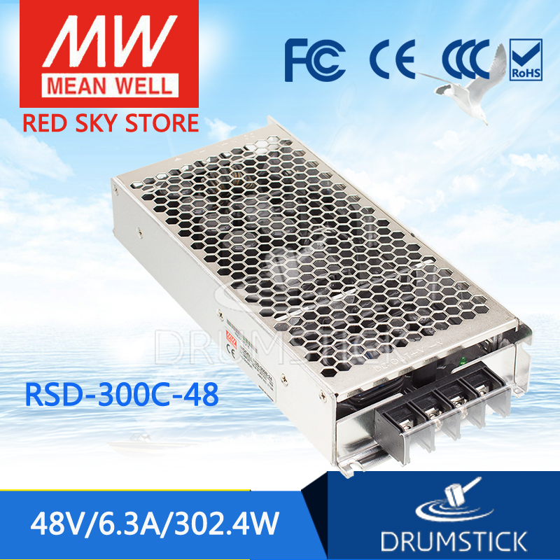 MEAN WELL RSD-300F-48 48V 6.3A meanwell RSD-300 48V 302.4W Railway Single Output DC-DC Converter цены