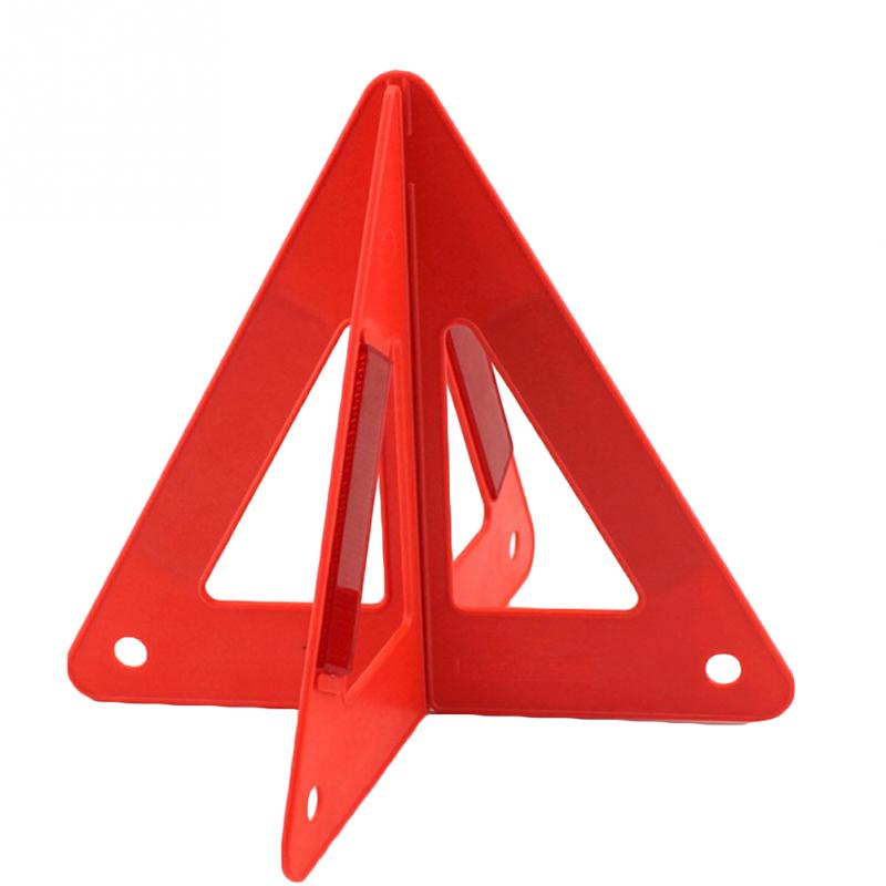 FGHGF Auto Car Safety Emergency Reflective Warning Triangle 26*25*23CM Warning Tape Red new reflective traffic warning sign car triangle foldable standing tripod emergency