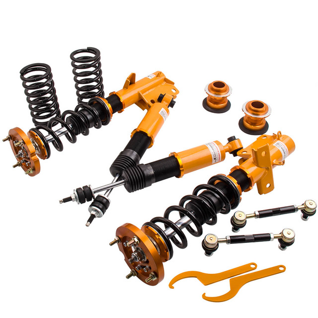 Full set Coilovers Suspension  Shock Absorber for Ford Mustang 05-14 Front Rear Strut Coil Springs