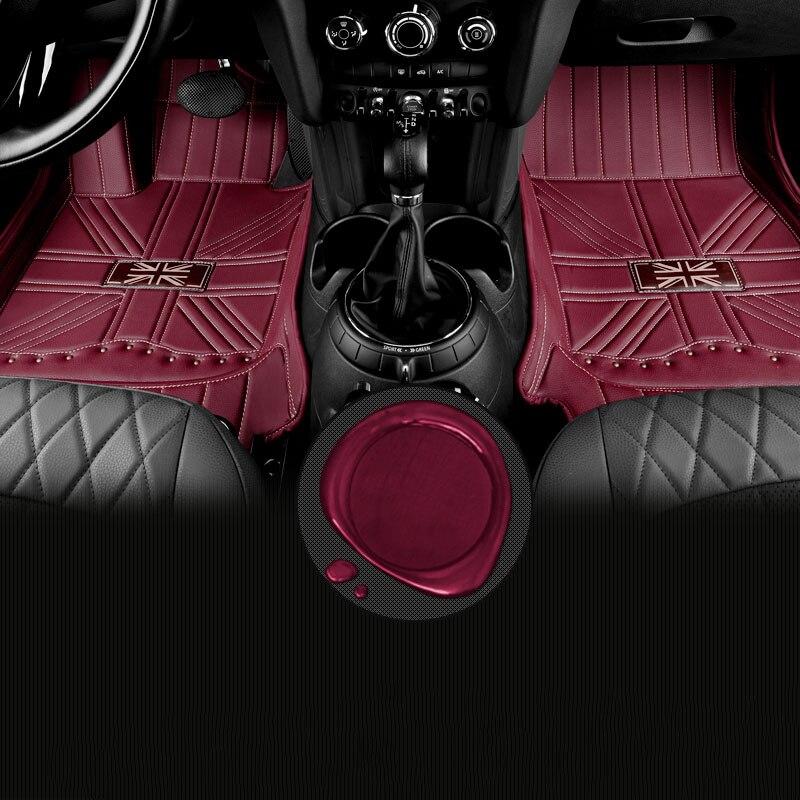 Полный комплект Юнион Джек противоскользящие все окруженные ПВХ кожаные автомобильные коврики водонепроницаемые для Mini Cooper Countryman, Clubman 60 с