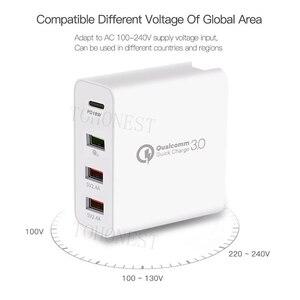 Image 3 - Быстрое зарядное устройство QC 3,0, 48 Вт, сетевое зарядное устройство с портом USB Type C 3,0 PD для Samsung, iPhone, Huawei, планшетов, адаптер с вилкой Стандарта США, ЕС, Великобритании, Австралии