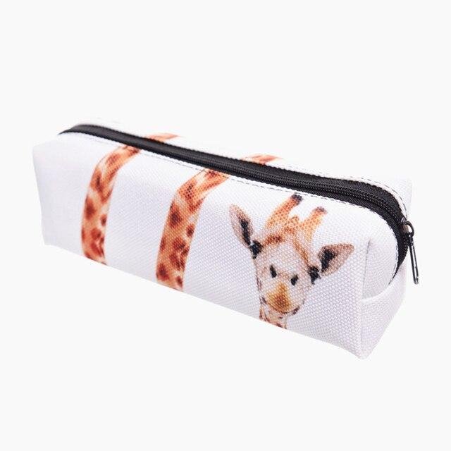Giraffe 3d Printing School Cosmetic Bag Women Makeup Organizer 2018 New Pouch Necessaire Trousse De