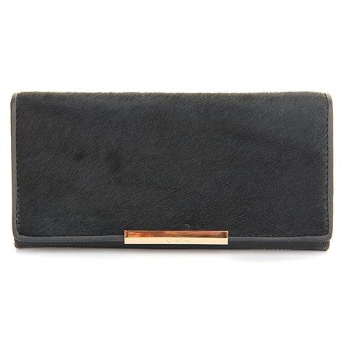 10pcs( ASDS Wallet Women Wallet Genuine Leather Black Horse Fur