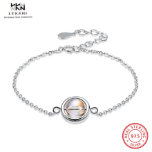 LEKANI Crystals From Swarovski Bracelet 925 Rotatable Bead Sterling Silver New Ladies Round Gift Fine Jewelry