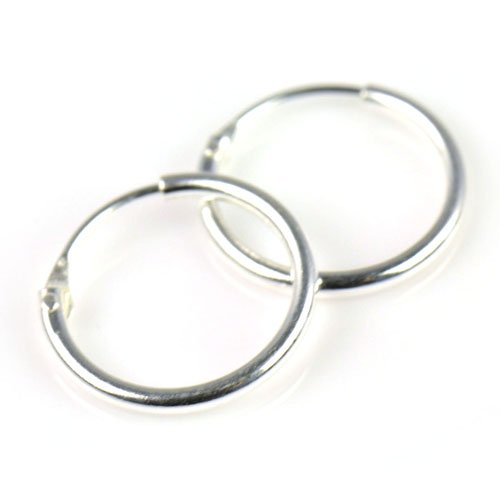 04c8c05de AOLOSHOW 925 Sterling Silver Small Endless Hoop Earrings for cartilage  Helix Nose septum and lips Diameter 8/9.5/13/14mm ,P698