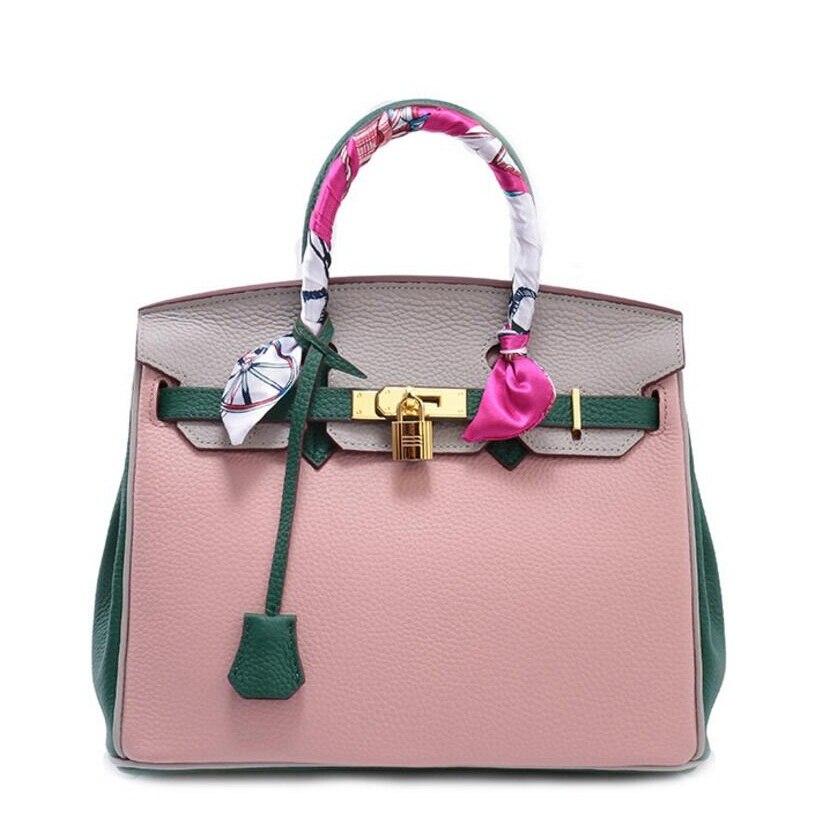 designer Lychee Pattern handbag ,women Lock handbag , Leather Classic brand messenger bags ,luxury famous ,Genuine Leather Totes цена и фото