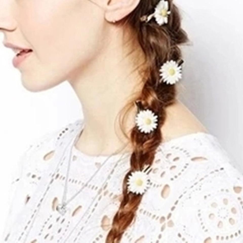 Daisy Bobby Pins Metal Flower Hair Clip Women Fashion Style Hairpin