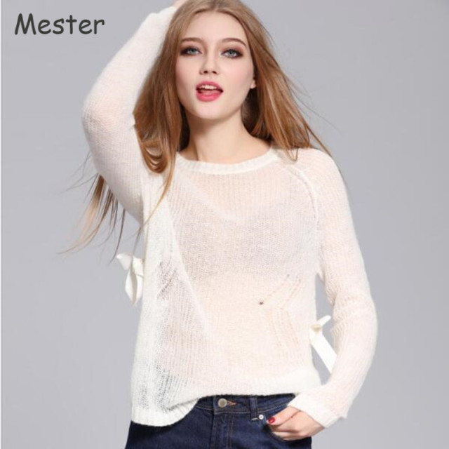 Spring Knitwear Crewneck Loose Thin Sweaters and Pullovers Women ...