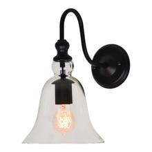 Vintage E27 vidrio claro campana luz para pared con lámpara accesorio Edison incandescente Lustres lámpara de hogar en los apliques de pared para el hogar